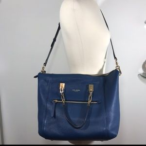 Henri Bendel Large Crossbody Satchel Oxford Blue